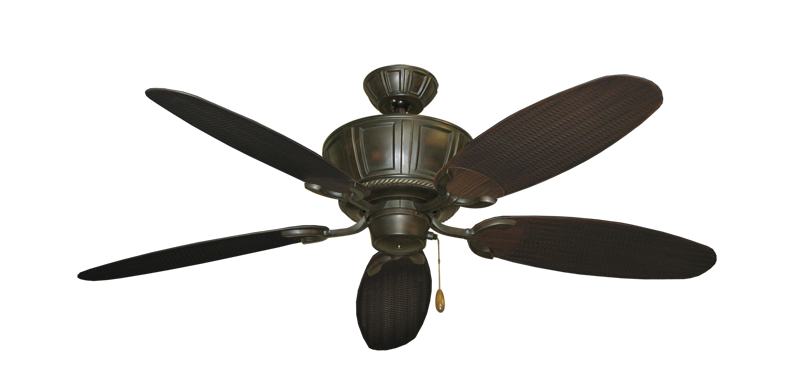 "Centurion Oil Rubbed Bronze with 52"" Outdoor Wicker Oil Rubbed Bronze Blades"