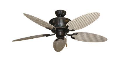 "Picture of Centurion Oil Rubbed Bronze with 52"" Outdoor Bamboo Distressed White Blades"