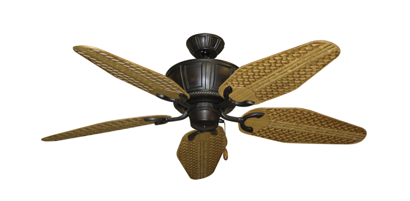 "Centurion Oil Rubbed Bronze with 52"" Outdoor Weave Walnut Blades"