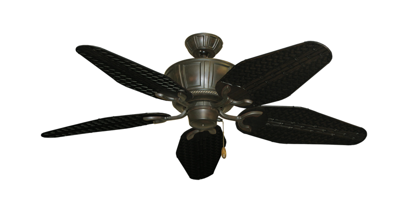 """Picture of Centurion Oil Rubbed Bronze with 52"""" Outdoor Weave Oil Rubbed Bronze Blades"""