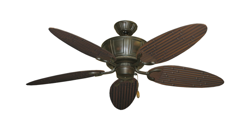"Picture of Centurion Oil Rubbed Bronze with 52"" Outdoor Bamboo Oil Rubbed Bronze Blades"