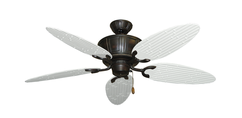 "Picture of Centurion Oil Rubbed Bronze with 52"" Outdoor Bamboo Pure White Blades"