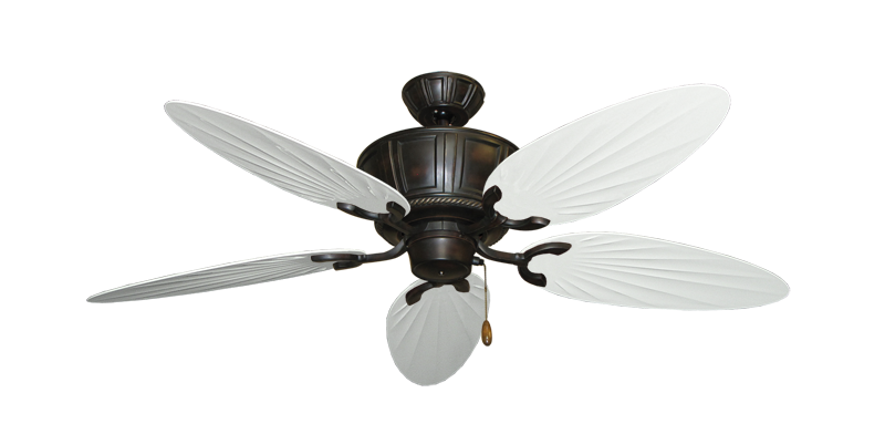 """Picture of Centurion Oil Rubbed Bronze with 52"""" Outdoor Palm Pure White Blades"""