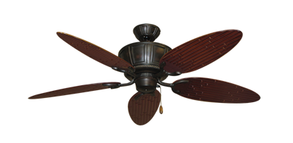 "Picture of Centurion Oil Rubbed Bronze with 52"" Outdoor Bamboo Wine Blades"
