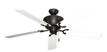 """Picture of Centurion Oil Rubbed Bronze with 60"""" Outdoor Pure White Blades"""
