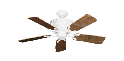"""Picture of Centurion Pure White with 44"""" Walnut Gloss Blades"""