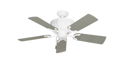 """Picture of Centurion Pure White with 44"""" Satin Steel (painted) Blades"""