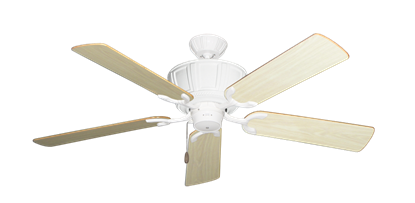 """Picture of Centurion Pure White with 52"""" Bleached Oak Gloss Blades"""