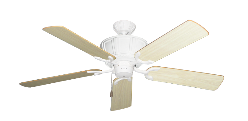 """Centurion Pure White with 52"""" Bleached Oak Gloss Blades"""