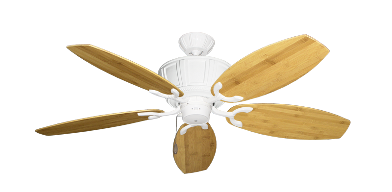 """Centurion Pure White with 52"""" Oar Bamboo Brown Blades"""
