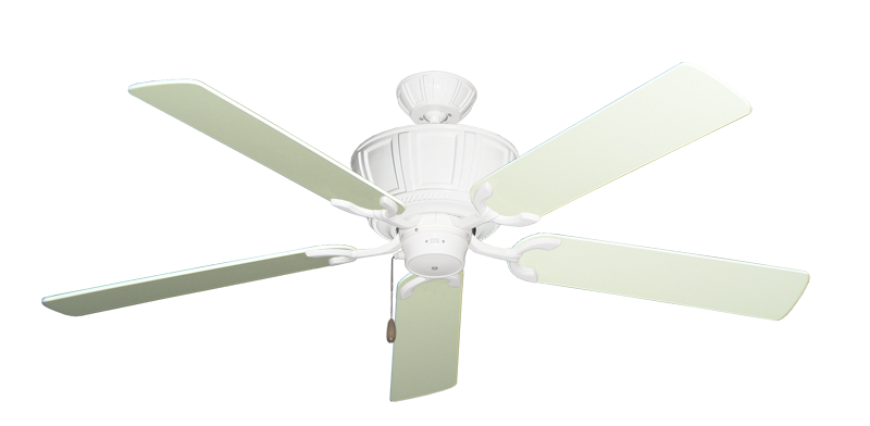 """Picture of Centurion Pure White with 56"""" Antique White Blades"""