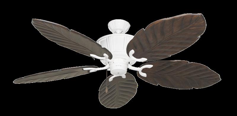 """Centurion Pure White with 58"""" Series 100 Arbor Dark Walnut Blades"""