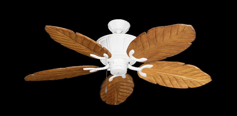 "Centurion Pure White with 52"" Series 125 Arbor Oak Blades"