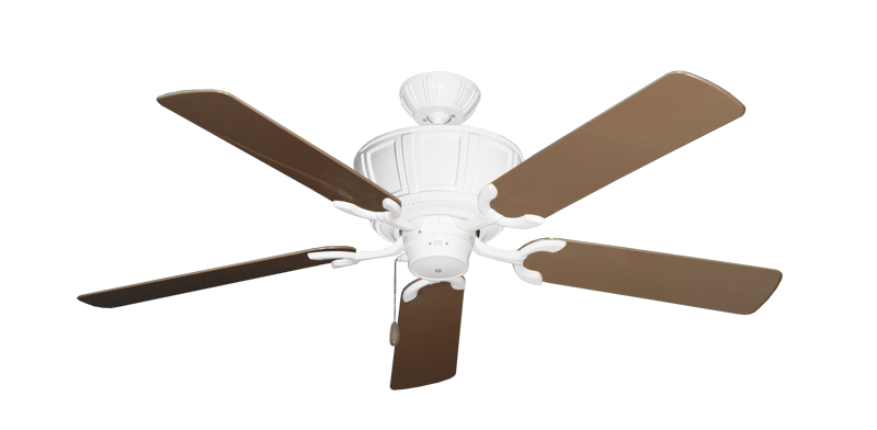 "Picture of Centurion Pure White with 52"" Outdoor Brown Blades"