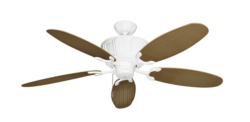 "Picture of Centurion Pure White with 52"" Outdoor Wicker Tan Blades"