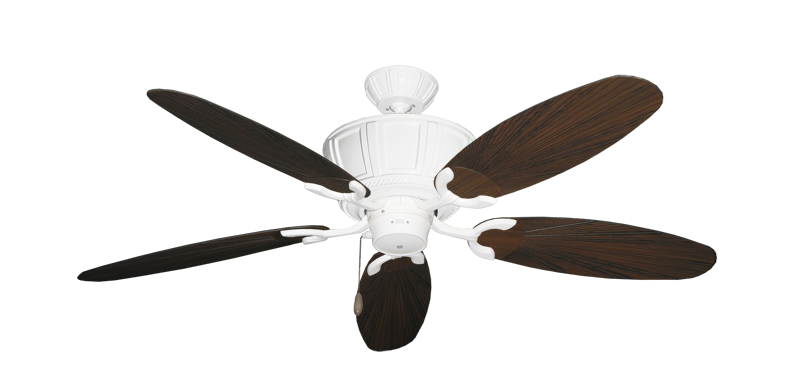 "Centurion Pure White with 52"" Outdoor Leaf Oil Rubbed Bronze Blades"
