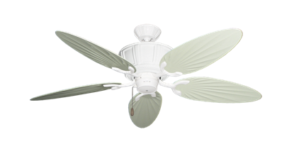 "Picture of Centurion Pure White with 52"" Outdoor Palm Antique White Blades"