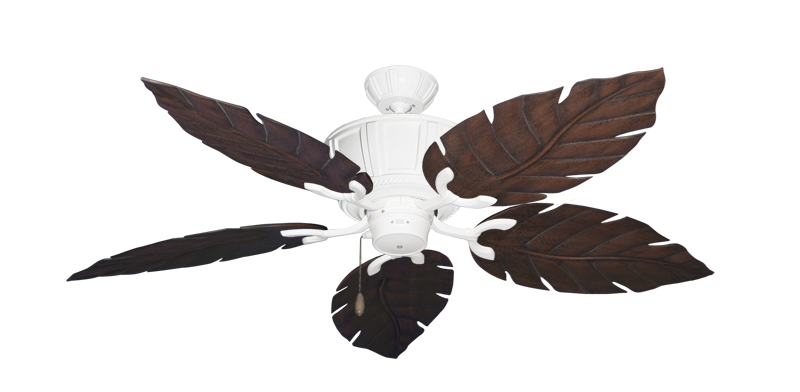 """Picture of Centurion Pure White with 52"""" Venetian Oil Rubbed Bronze Blades"""