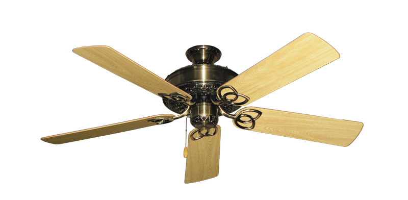 "Picture of Renaissance Antique Brass with 52"" Honey Oak Gloss Blades"