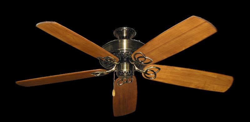 "Picture of Renaissance Antique Brass with 60"" Series 450 Arbor Oak Blades"