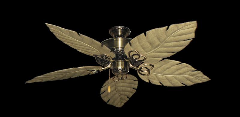 "Picture of Renaissance Antique Brass with 52"" Venetian Walnut Blades"