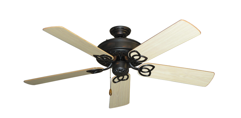 "Picture of Renaissance Oil Rubbed Bronze with 52"" Bleached Oak Gloss Blades"