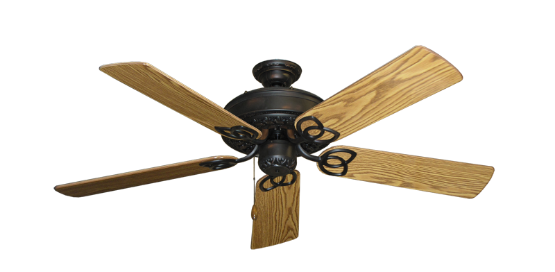 """Picture of Renaissance Oil Rubbed Bronze with 52"""" Oak Gloss Blades"""