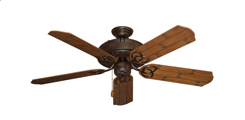 "Picture of Renaissance Oil Rubbed Bronze with 52"" Cherry Plank Blades"