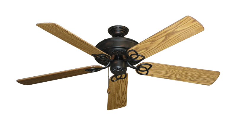 """Picture of Renaissance Oil Rubbed Bronze with 56"""" Oak Gloss Blades"""