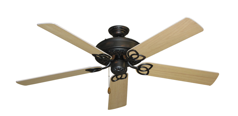 """Picture of Renaissance Oil Rubbed Bronze with 56"""" UnMotor Finished Oak Blades"""