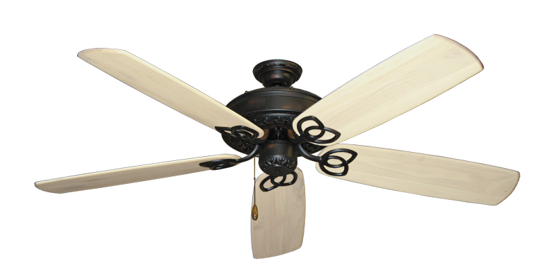 """Picture of Renaissance Oil Rubbed Bronze with 60"""" Series 450 Arbor Whitewash Blades"""