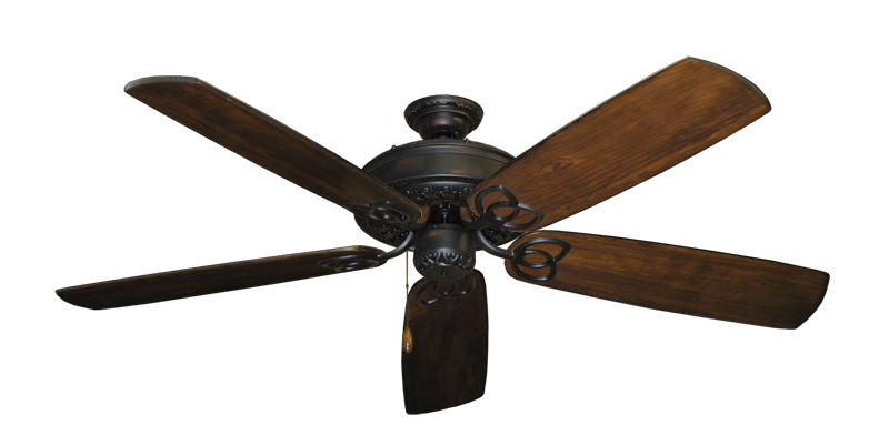 """Picture of Renaissance Oil Rubbed Bronze with 60"""" Series 450 Arbor Dark Walnut Blades"""