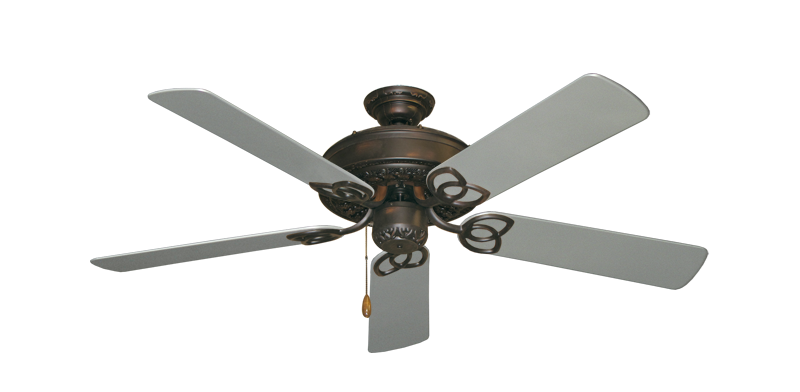 "Picture of Renaissance Oil Rubbed Bronze with 52"" Outdoor Brushed Nickel Blades"