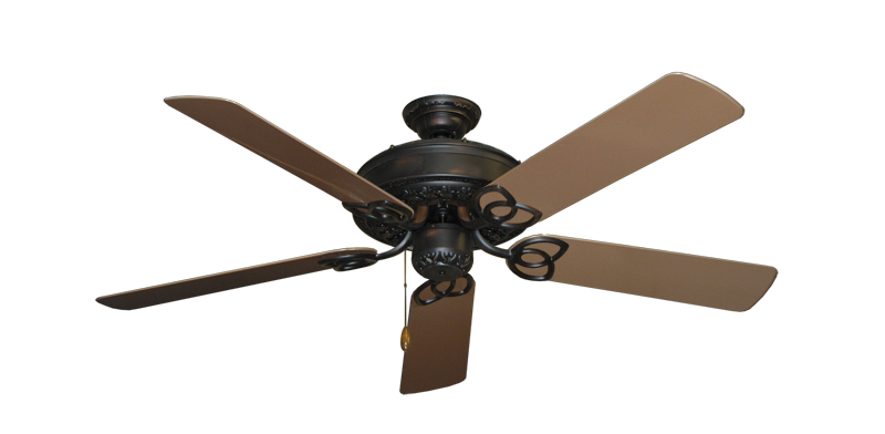 """Picture of Renaissance Oil Rubbed Bronze with 52"""" Outdoor Brown Blades"""