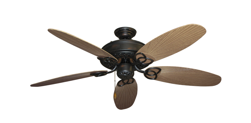 """Picture of Renaissance Oil Rubbed Bronze with 52"""" Outdoor Leaf Tan Blades"""