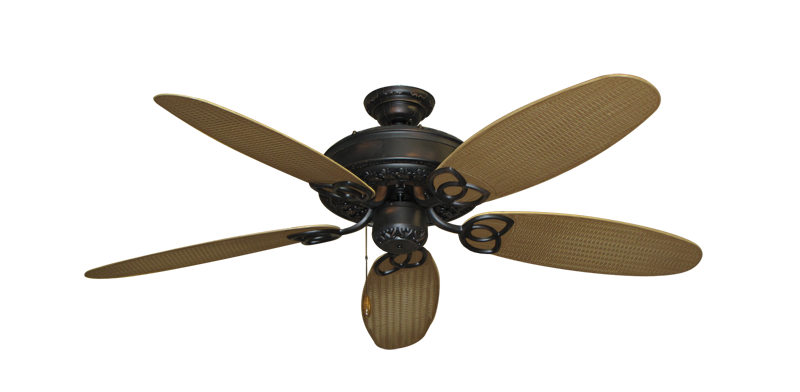 "Picture of Renaissance Oil Rubbed Bronze with 52"" Outdoor Wicker Tan Blades"
