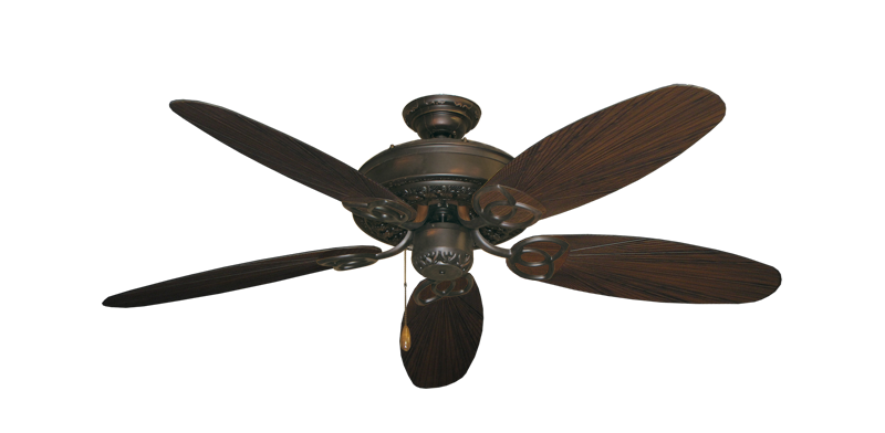 """Picture of Renaissance Oil Rubbed Bronze with 52"""" Outdoor Leaf Oil Rubbed Bronze Blades"""