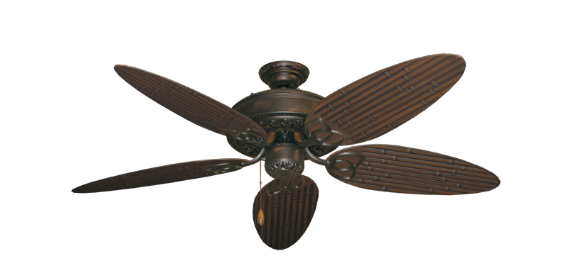 "Picture of Renaissance Oil Rubbed Bronze with 52"" Outdoor Bamboo Oil Rubbed Bronze Blades"