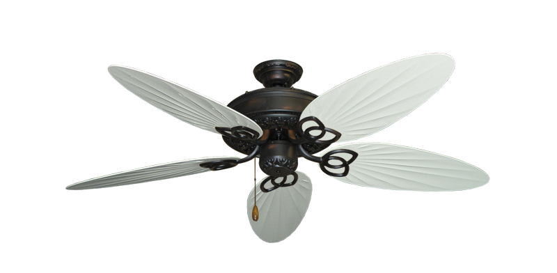 "Picture of Renaissance Oil Rubbed Bronze with 52"" Outdoor Palm Pure White Blades"