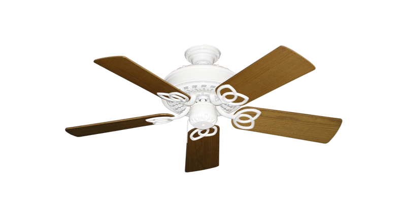 """Picture of Renaissance Pure White with 44"""" Light Oak Blades"""