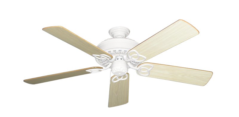 """Picture of Renaissance Pure White with 52"""" Bleached Oak Gloss Blades"""