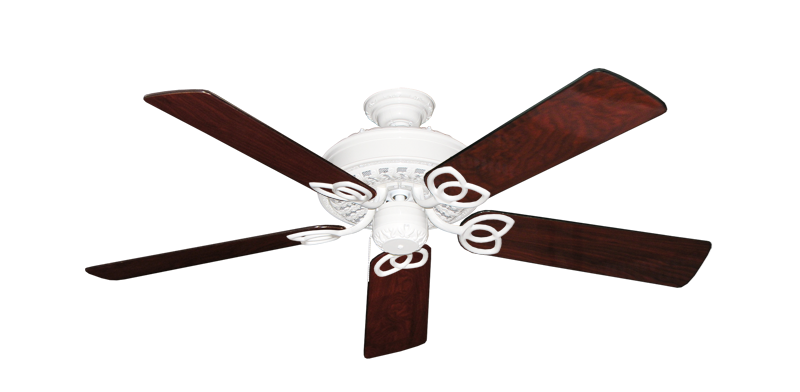 """Picture of Renaissance Pure White with 52"""" Cherrywood Gloss Blades"""