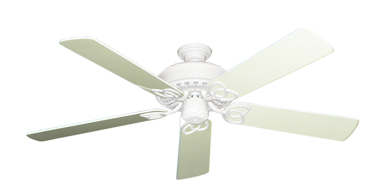 """Picture of Renaissance Pure White with 56"""" Antique White Gloss Blades"""