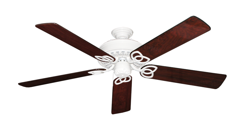 """Picture of Renaissance Pure White with 56"""" Cherrywood Gloss Blades"""