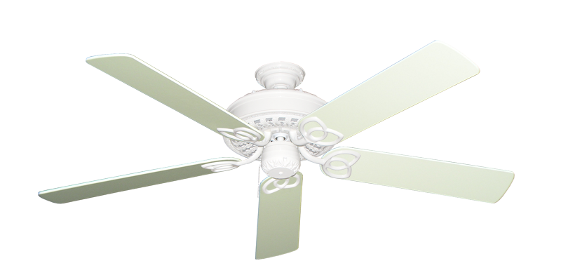 """Picture of Renaissance Pure White with 56"""" Antique White Blades"""