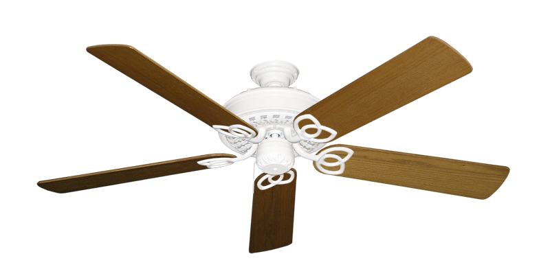 """Picture of Renaissance Pure White with 56"""" Light Oak Blades"""