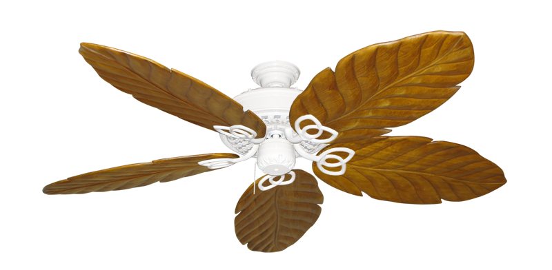 """Picture of Renaissance Pure White with 58"""" Series 100 Arbor Oak Blades"""
