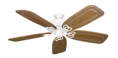 """Picture of Renaissance Pure White with 58"""" Series 800 Arbor Pecan Blades"""