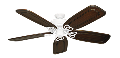 """Picture of Renaissance Pure White with 58"""" Series 800 Arbor Chestnut Blades"""