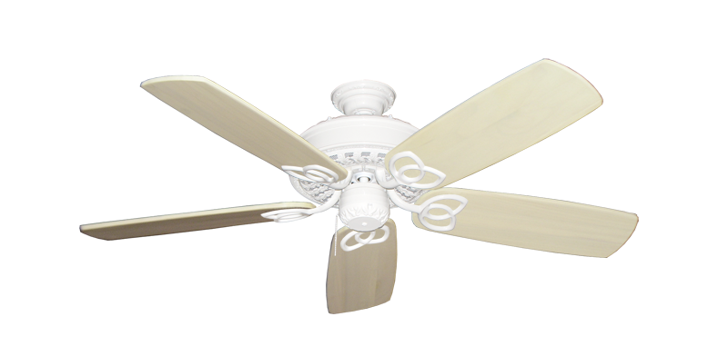 """Picture of Renaissance Pure White with 52"""" Series 425 Arbor Whitewash Blades"""
